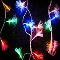 UE Ficha 10 M AC220V 100 LED Fibra Óptica Luz Cordas Fada Luzes De Natal Holiday Party Decoração sala de estar