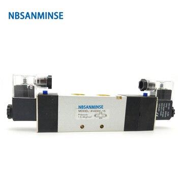 цена на NBSANMINSE 4V410 4V420 4V430 G Thread 1/2  4V series Solenoid Valve Electromagnetic Valve AirTac Type Solenoid Valve
