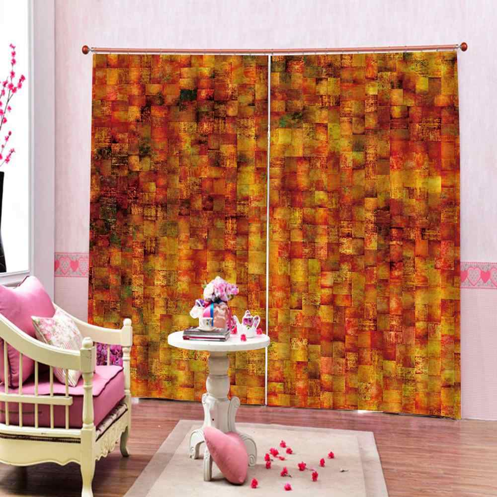 uxury Blackout 3D Window Curtains For Living Room Bedroom yellow brick curtains for bedroom Blackout curtain