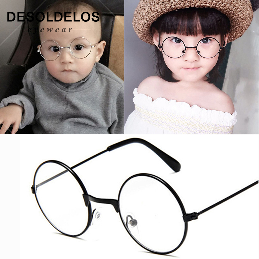 2019 Round Spectacles Glasses Frames Eyewear Kids With Clear Lens Myopia Optical Transparent Glasses For Children Boys Girls