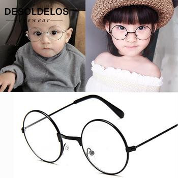 2019 okrągłe okulary ramki okularów okulary dla dzieci z Clear Lens krótkowzroczność optyczne przezroczyste okulary dla dzieci dla dzieci chłopcy dziewczęta tanie i dobre opinie DesolDelos Stop Unisex Stałe D314 Frames Eyewear Accessories