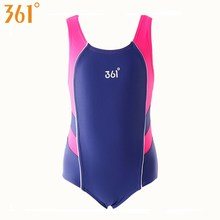 купить 361 Girls Swimwear One-Piece Bathing Suit Kids Swimsuit Chlorine Resistant Swimming Suit Children Swimwear 3-12 Years дешево
