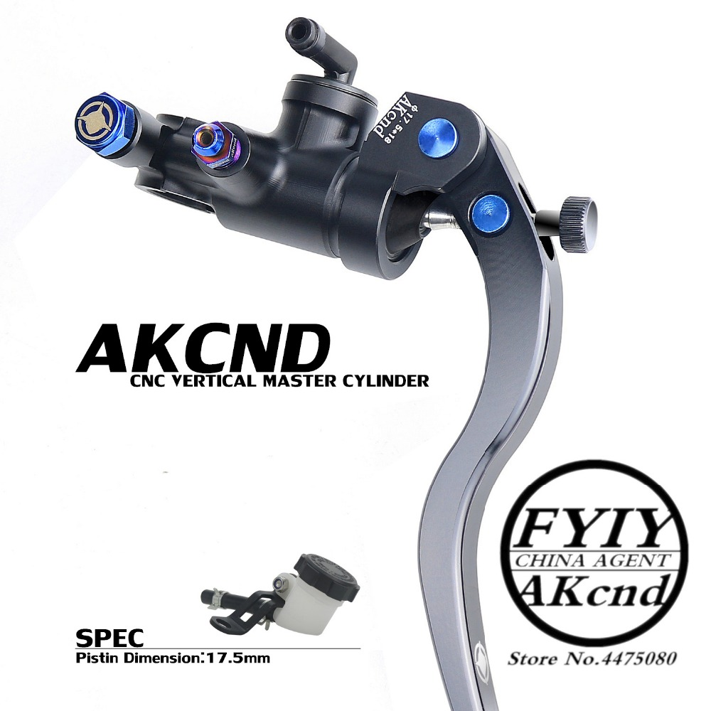 AKCND 17 5MM Motorcycle Brake Clutch Master Cylinder Hydraulic Pump handle For yamaha r6 r1 fz6 gsxr600 z800 nmax 155 aerox nvx in Brake Shoe Sets from Automobiles Motorcycles