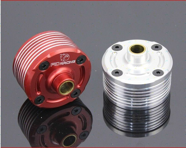 Split front wheel differential speed metal shell FOR LOSI 5IVE-T 1pc red silver can choose billet rear hub carriers for losi 5ive t