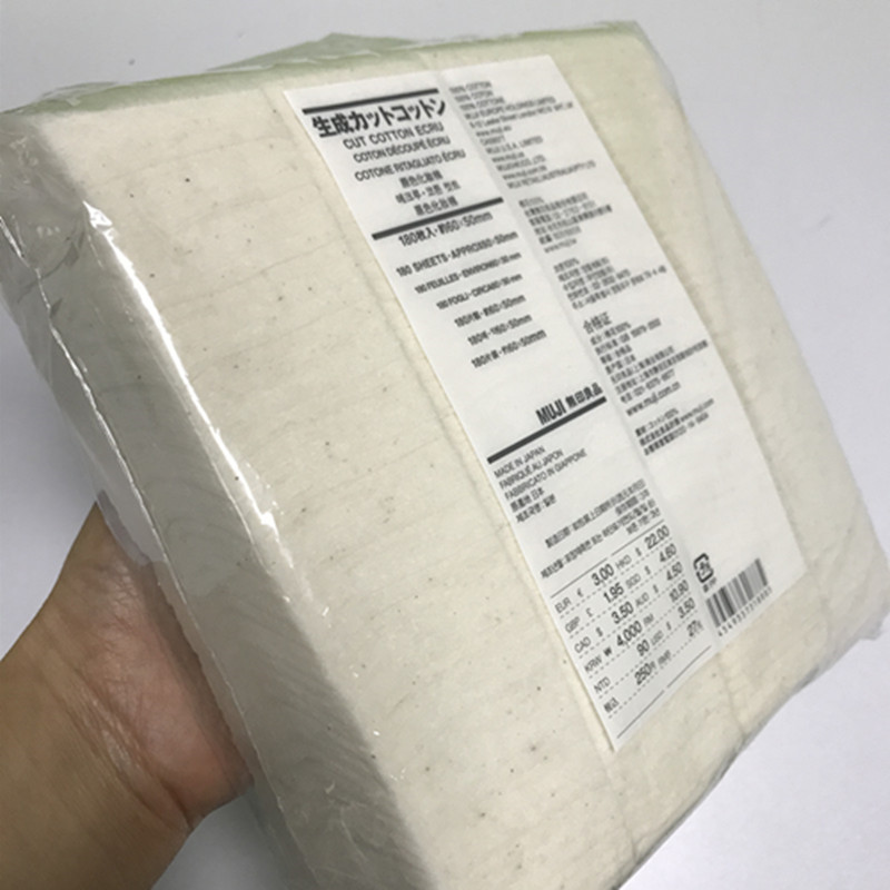 Neueste verpackung Muji baumwolle Organische Japanischen 60*50mm 180 stücke für elektronische zigarette RDA RTA Zerstäuber spulen mit günstigste preis
