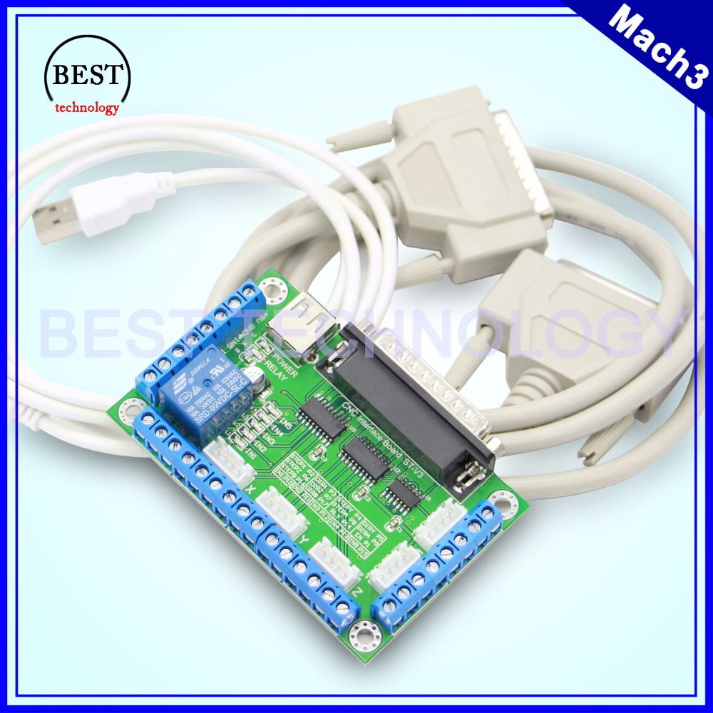New Design Mach3 5Axis CNC breakout board controller for CNC Router Machine cnc interface adapter board цена