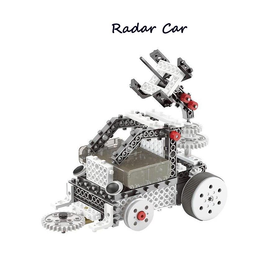 DIY RC Blocs 4-en-1 Construction Ensemble RC Robotique Vechicles Motorisé L'exploration Spatiale Science Robots SOUCHES éducatifs modèle kit - 4