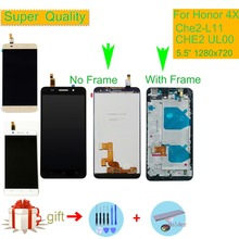 5.5 Original Display For HUAWEI Honor 4X Display Touch Screen with Frame for HUAWEI HONOR 4X LCD Replacement Che2-L11 CHE2 UL00 original lcd screen display touch panel digitizer with frame for huawei honor 4x black or gold free shipping