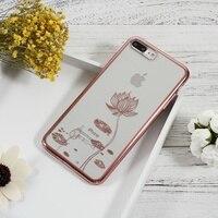 Devia用iPhone7プラス5.5インチ電話カバークリスタルの装飾パターンメッキpcハードケースiphone用7プラスケースバッグ黒/