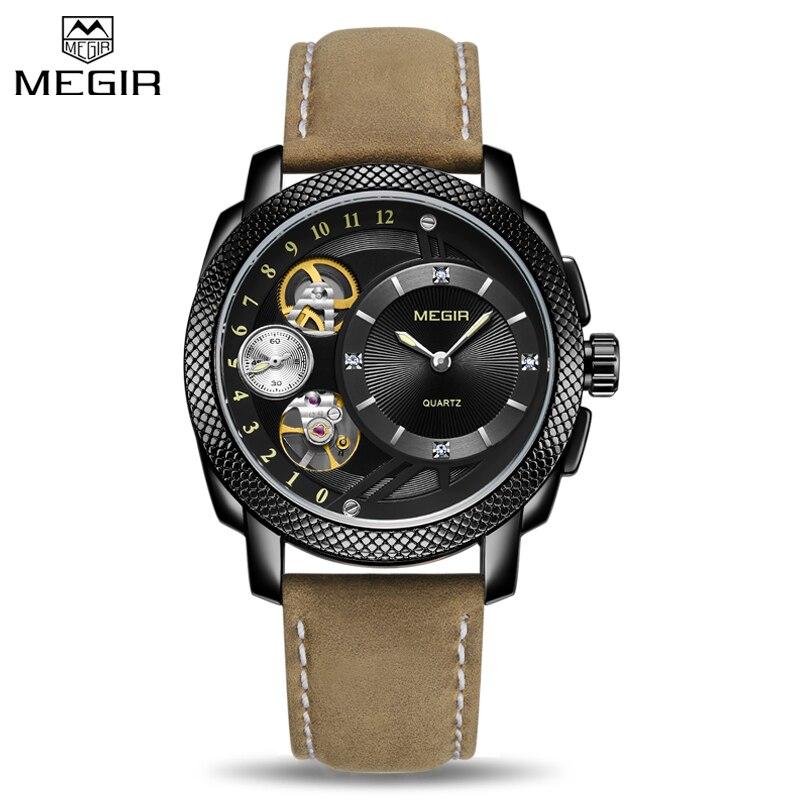 Megir Mens Watches Top Brand Luxury Sport Quartz Men Watches Fashion Waterproof Chronograph Multifunction Male Wristwatches все цены