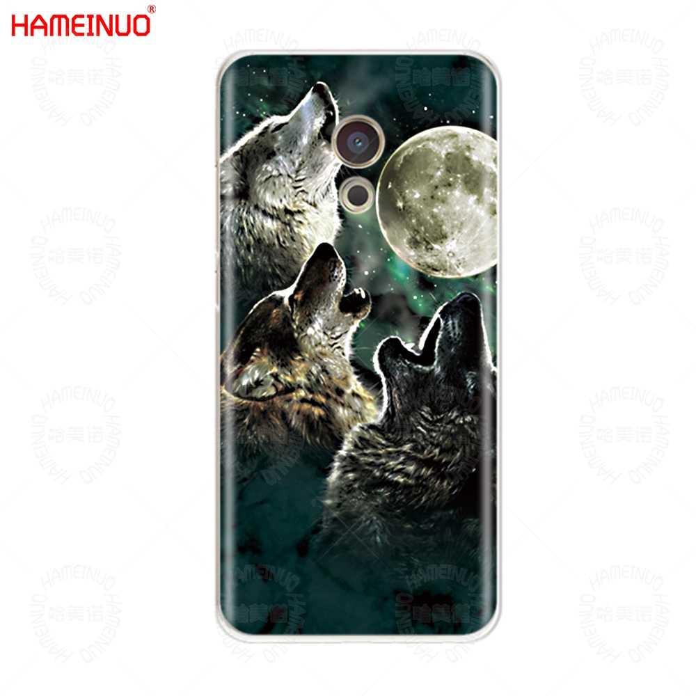 Wilk zwierząt pokrywa etui na telefon do Meizu M6 M5 M5S M2 M3 M3S MX4 MX5 MX6 PRO 6 5 U10 u20 note plus