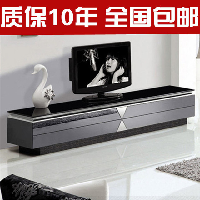 Minimalist Modern Glass TV Cabinet TV Cabinet Stainless Steel Cabinet  Nationwide Shipping Fashion Creative