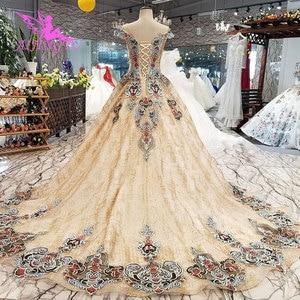 Image 5 - AIJINGYU Abiti Da Sposa Arabia Saudita Abiti In Raso Brillante A Buon Mercato Nei Pressi di Me Dellabito di Sfera Del Merletto Dubai Abito Da Sposa Nuovo 2021 2020
