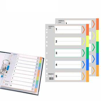 Alfabet data index stronicowanie notatnik zakładka do zeszytu szkolne materiały biurowe śliczne kreatywne otwory binder planner Gold foil index tanie i dobre opinie Segregator Other Kartki memo 456343242345