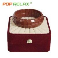 POP RELAX health care Korea tourmaline germanium bracelet energy negative anion physical therapy new fashion stone bracelets men