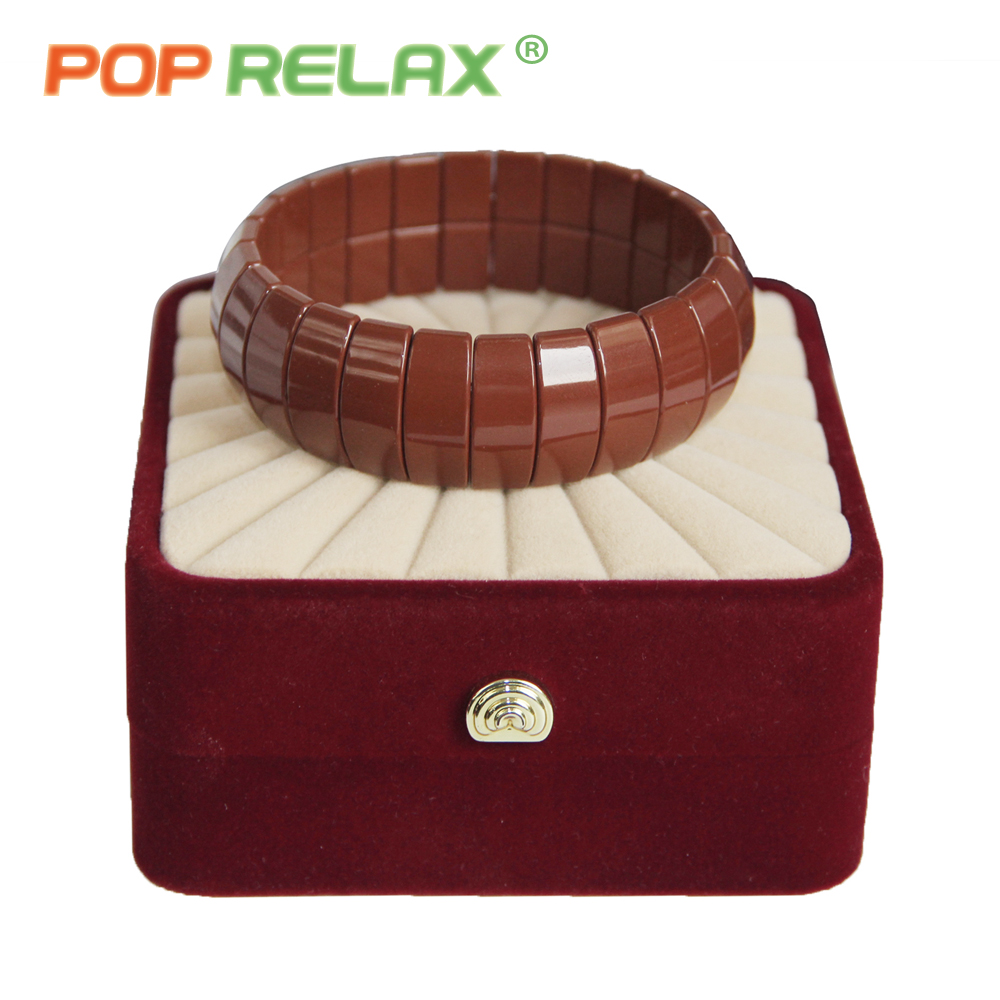POP RELAX health care Korea tourmaline germanium bracelet energy negative anion physical therapy new fashion stone bracelets men pop relax negative ion magnetic therapy tourmaline mat pr c06a 55x120cm ce