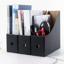 5PCS/Set School Pencil Rack Office Paperwork Desk Organiser Magazine Simple File Holder Foldable Storage Box Paper(China)