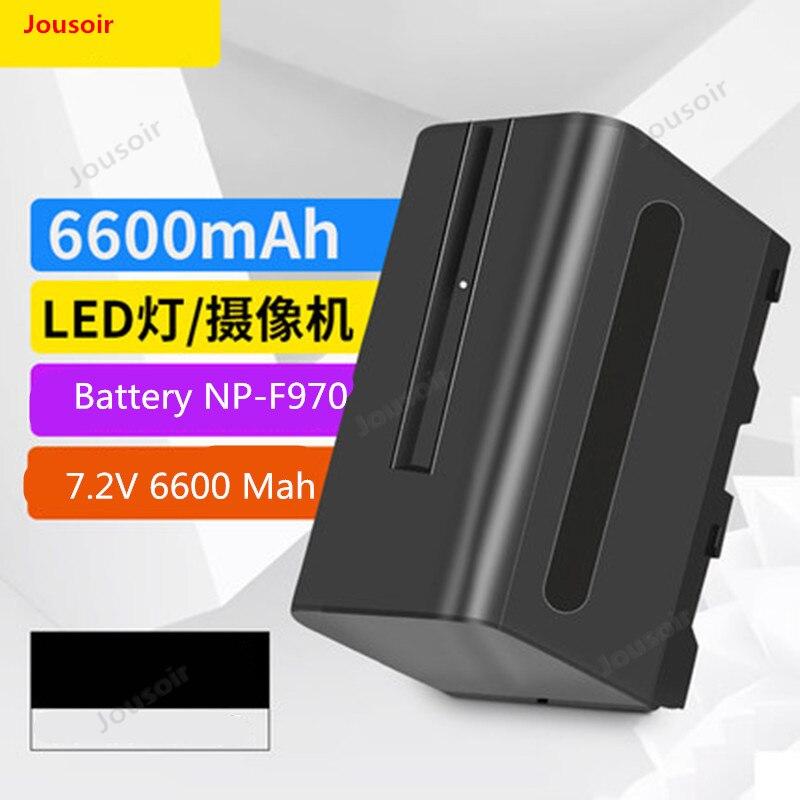 Batterie d'appareil photo NP-F970/6600 Ma Li-ion batterie LED lampe photographique remplissage lumière batterie lampe à LED usage général CD50 T03