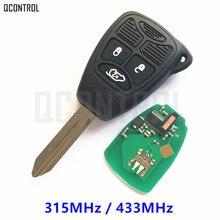 Qcontrolリモートフリップキー用jeepコマンダーpatriotコンパスグランドチェロキーlibertyラングラーキーレスエントリー送信機