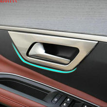 BJMYCYY For Peugeot 3008 3008GT Stainless steel Interior Accessories Door Inner Handle Bowls Cover Frame Trim Steel 4pcs