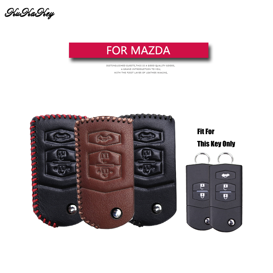 Genuine Leather Flip Folding Car Key Case Cover For Mazda 2 3 5 6 CX5 CX-5 M2 M3 M5 M6 Key Holder Bag Shell For Mazda 2 3 5 6 коврик для приборной панели авто 2 3 5 6 cx 5 m6 3 mx5