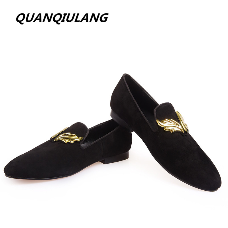 Brand Designer High Quality Personality Wings Handmade Genuine Leather Man Shoes Wedding And Party Loafers Men Flats Size 39-46