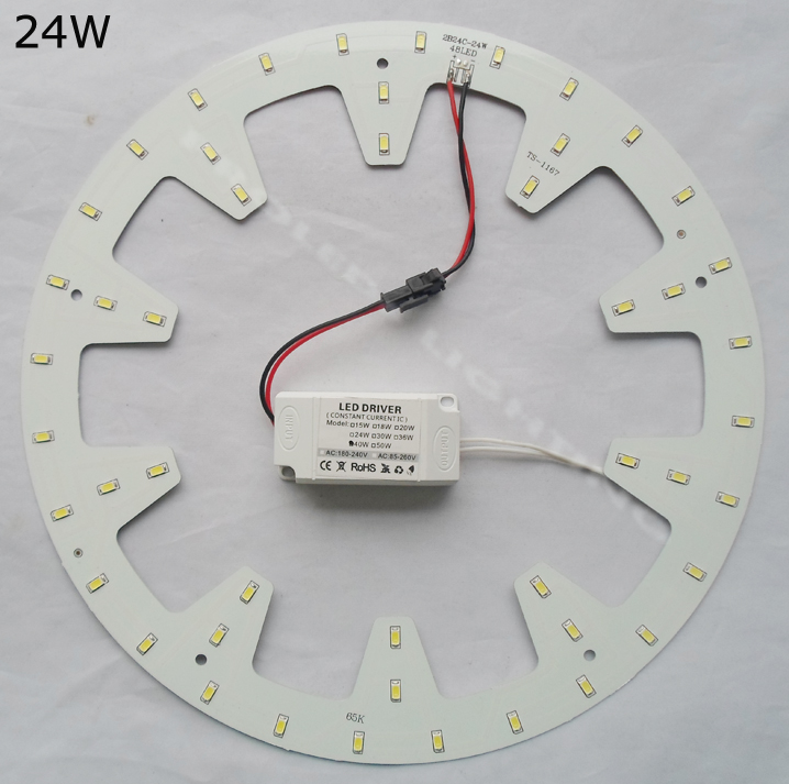 DIY rund 15W 18W 24W LED taklampa ledd panel PCB ledd LED ned ljuskälla techo LED 120V 220V 230V 240V