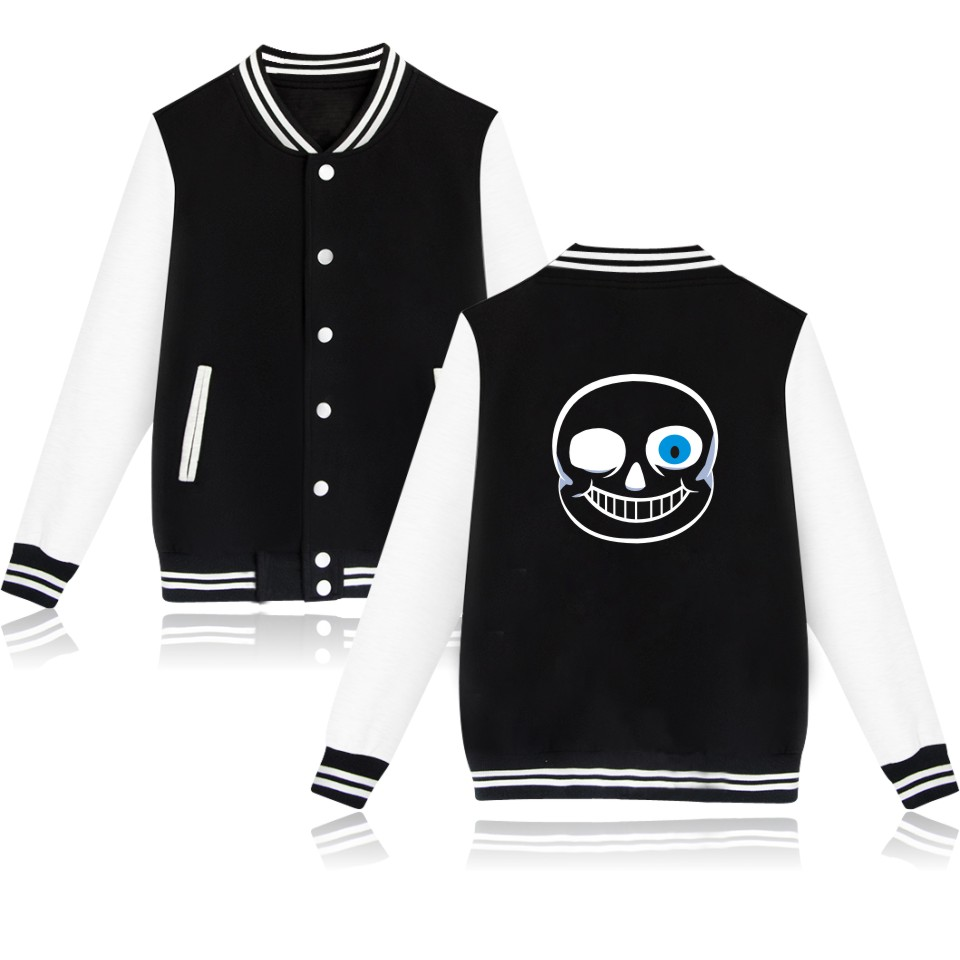 Undertale SANS And Papyrus Print Designs Baseball Jacket Spring Female Winter Jacket Women Slim Hot Sale Casual Coats XXS To 4XL