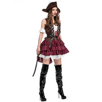 New Female Pirate Costumes Halloween Cosplay Queen Pirate Disfraces Uniform Temptation Hot Sale Exotic Clothes 1142H177462