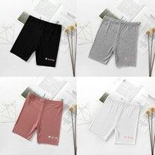 Г., штаны для девочек милые короткие штаны с принтом в виде букв хлопковые Стрейчевые штаны Летние повседневные шорты, леггинсы детская одежда