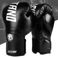Guantes De boxeo De alta calidad para adultos y mujeres, guantes De boxeo De cuero MMA Muay Thai, equipos De gimnasio De Luva Mitts Sanda 8 10 12 6 OZ boks