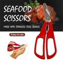 Stainless Steel Scissors New Lobster Fish Shrimp Crab Seafood Shears Snip Shells Kitchen Tool Slimme Keukentang