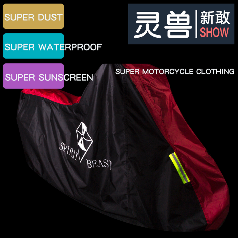 Spirit Beast Motorcycle Cover Motorbike Covers Case Scooter Waterproof Outdoor Protectors for Honda Vespa Harley Yamaha
