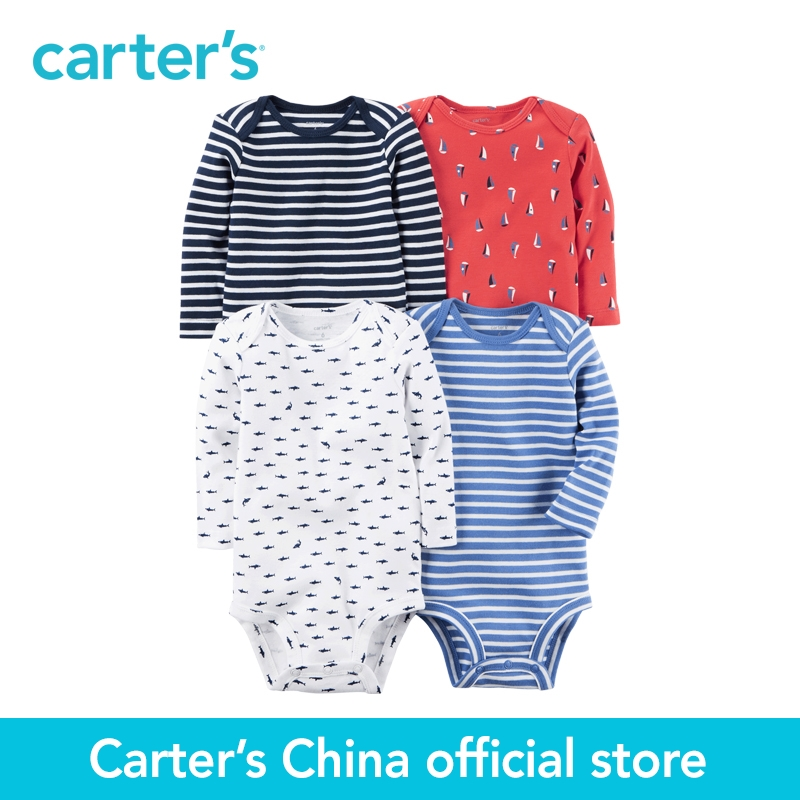 Carter's 4pcs baby children kids 4-Pack Long-Sleeve Bodysuits 126G600,sold by Carter's China official store