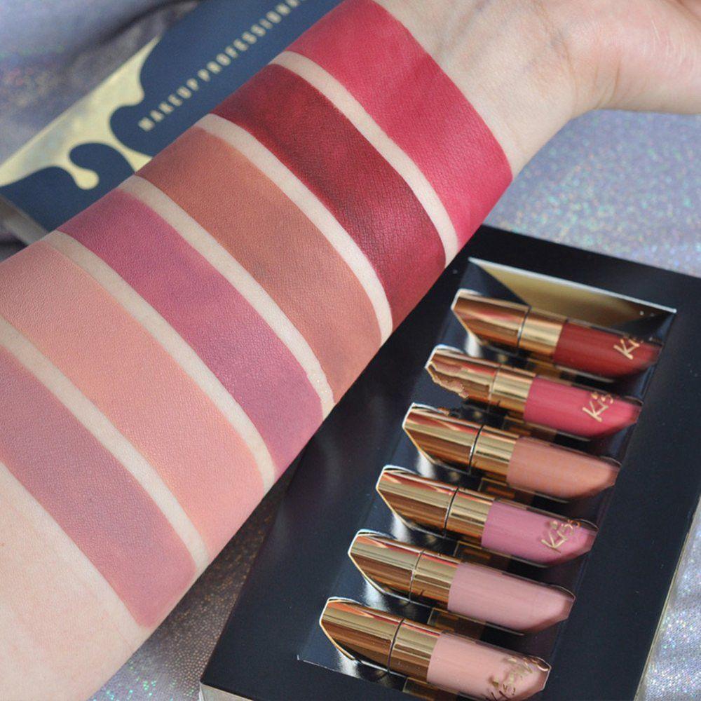 5Pcs/Lot Nude Matte Waterproof Liquid Makeup Lipstick  Pigments Makeup Lipsticks Sexy Beauty  Lips Gloss Lip Kit Women Fashion