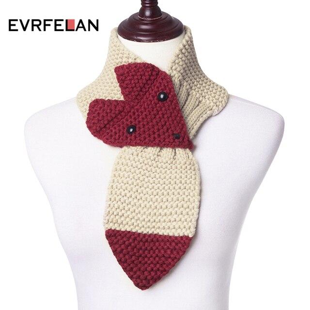 Evrfelan nuevo invierno hecho punto bufanda para niños forma Animal ...