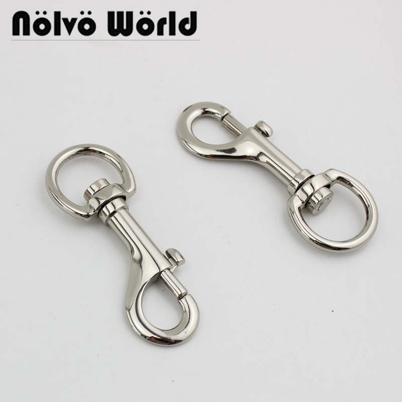 30pcs 4 Colors 3/4 Inch 2cm Big Hook Trigger Snap Hook Swivel Clasp Lobster Claws Swivel Hooks For Bags Dog Leash Metal