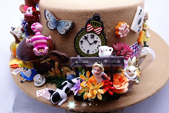 Fashion Unique Women Ladies Gothic Victorian Flower Fedora Butterfly Felt Bucket Hat Handmade Goth Cloche Caps Lolita