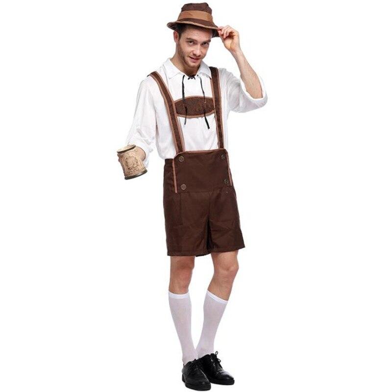 Adult Male Traditional Oktoberfest Costume Lederhosen Bavarian Octoberfest German Beer Men's Costume