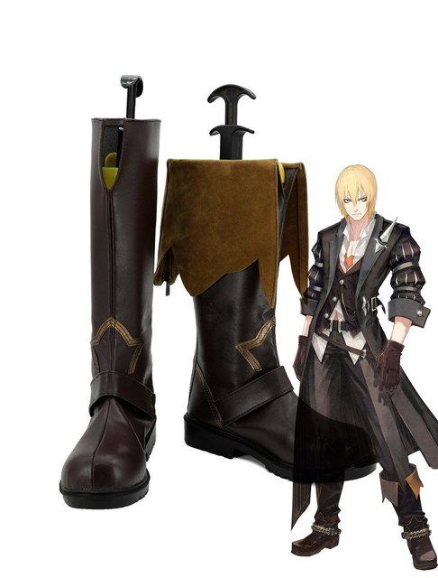Tales of Berseria Eizen Cosplay Shoes Boots Custom Made