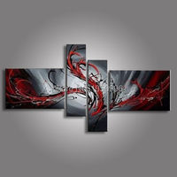 oil paintings on canvas red black white home decoration Modern abstract Oil Painting wall art hand painted oil painting on canva