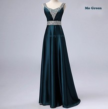 Neue 2015 V-ausschnitt Fashion Formal langen design Plus größe Silk Zuhair murad Perlen Partei-abend-kleid Vestido Brautkleid