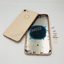Rear 8 Battery Back Cover For iphone 8G 4.7'' Back Middle Frame Chassis Full Battery Housing Assembly