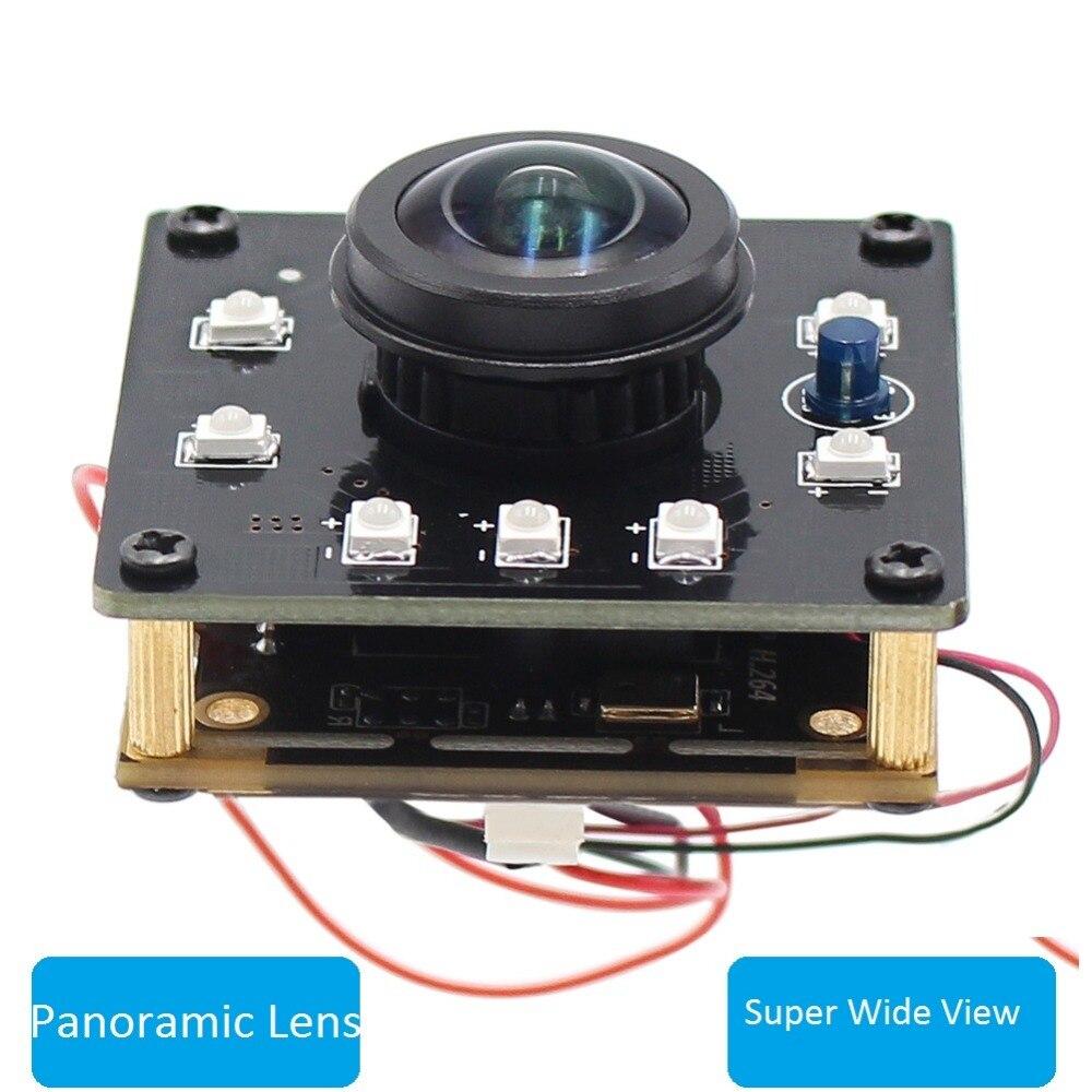 PEL Super Grand Angle Panoramique 180 degrés fisheye Mini 720 P IR Infrarouge Jour Nuit Vision Caméra Vidéo Module Conseil 1MP