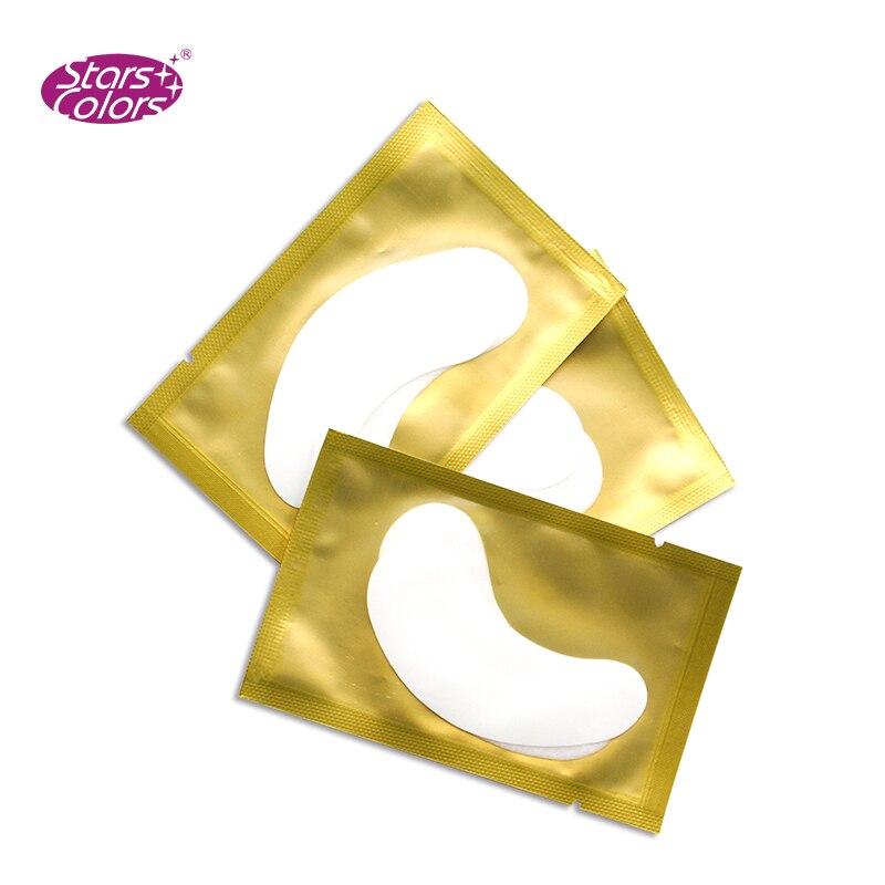 Top vendendo 50 pares/caixa almofadas Olho para a extensão dos cílios Sem Fiapos gel patches Adesivos Dicas Wraps Make Up Tools