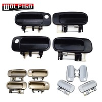WOLFIGO 4 PCS New Beige/Black/White Exterior Door Handle Front Rear Left Right Fit 92 96 Toyota Camry 6922033020, 6921033010