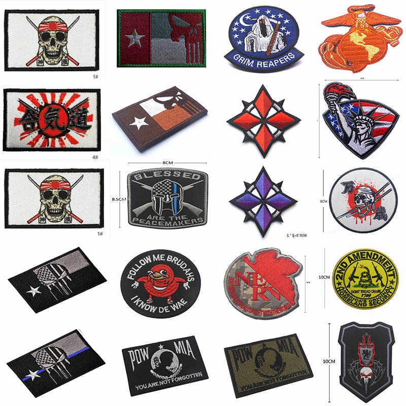 Kualitas Tinggi 100% Bordir Lengan Lencana U.s.s Patch Eagle Dunia Jangkar Lencana Malaikat Maut Patch Epaulet Emblem Bros