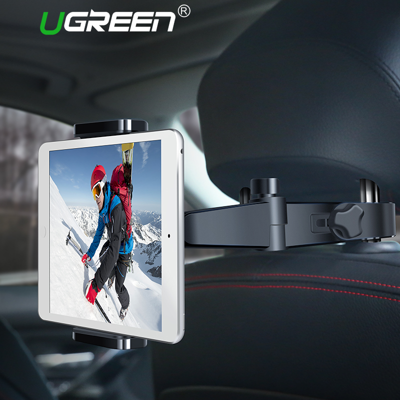 Ugreen Tablet Holder Stand for Samsung Back Seat Car Mount Holder for iPad Tablet 360 Degree Car Phone Holder for iPhone 8 X 6S 360 degree rotation car suction cup stand holder mount bracket for gps cell phone black red