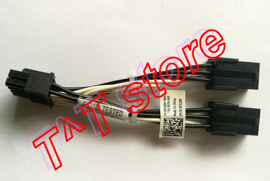 original for GPU POWER ADAPTER CABLE ASSEMBLY F520M 0F520M CN 0F520M test good free shipping