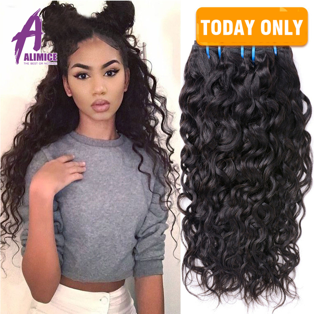 Alimice Hair Products Water Wave Weave Malaysian Virgin Hair 3pcs